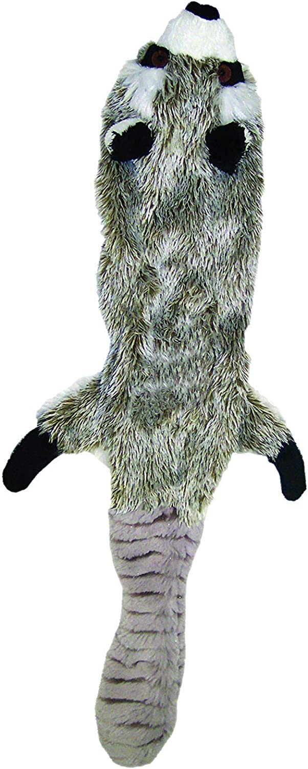 YQSMB Pets Mini Skinneeez Raccoon 14Inch Stuffingless Durable Squeaker Dog and Cat Toy.