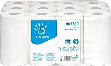 PAPERNET 403780 Asciugamano in Rotolo Centrefeed, Pura Cellulosa, Bianco, Unica