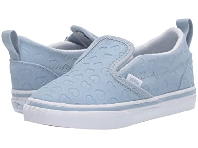 Vans Kids Slip-On V (Infant/Toddler) ((Hearts) Blue Fog/True White) Girls Shoes