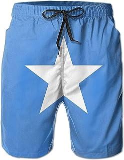 Bernice Winifred Flag of Somalia Hombres Bañadores de Secado rápido Pantalones Cortos de Playa Pantalones