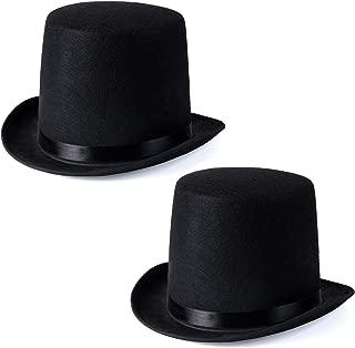 Funny Party Hats Black Felt Top Costume Hat