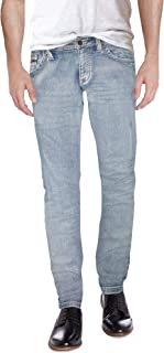 Sponsored Ad - ETHANOL Mens Slim Hyper Stretch Motion Denim Five Pocket Jean