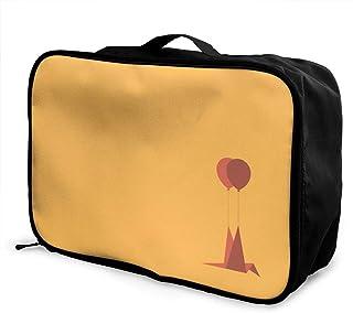 B-PBAGGU トラベル ポーチ 旅行バッグ 収納バッグ ボストンバッグ 収納カバン 千羽鶴 旅行カバン 大容量 おりたたみ シューズ収納可 機内持ち込み ビジネス 通勤 旅行 出張 に対応38x28x15cm