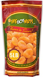 Sponsored Ad - We Got Nuts Dried Turkish Large Apricots in Resalable Bag, 5 Lbs (80oz)