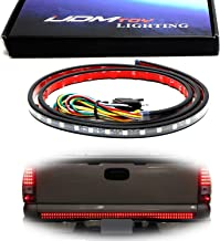 iJDMTOY Red/White 60-Inch Trunk Tailgate Tail Gate LED Light Bar For Backup Reverse Brake, Turn Signal Light Functions For Ford GMC Chevy Dodge Toyota Nissan Honda Truck SUV 4x4