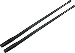 AntennaMastsRus - 13 Inch Flexible Rubber Antenna is Compatible with Harley Davidson Touring Electra Glide Ultra Classic FLHTCU (1989-2019) - 2 Pack