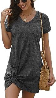 lime flare Women Sexy Casual Short Sleeve Mini T Shirt Dresses Summer Resort Beach Tshirt Tunic Sundress