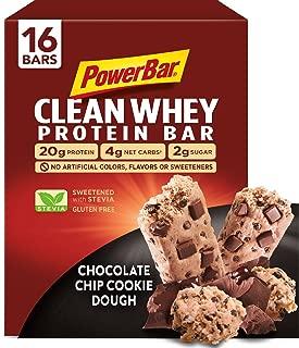PowerBar Clean Whey Bar, Chocolate Chip Cookie Dough, 2.12 oz Bar, (16 Count)