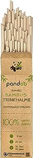 pandoo 50 plastic vrije wegwerp-rietjes van bamboe en plantaardige vezels   biologisch afbreekbare rietjes   Super alterna...