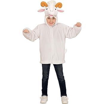 WIDMANN 97446 ? Disfraz infantil de peluche de cabra, chaqueta con ...
