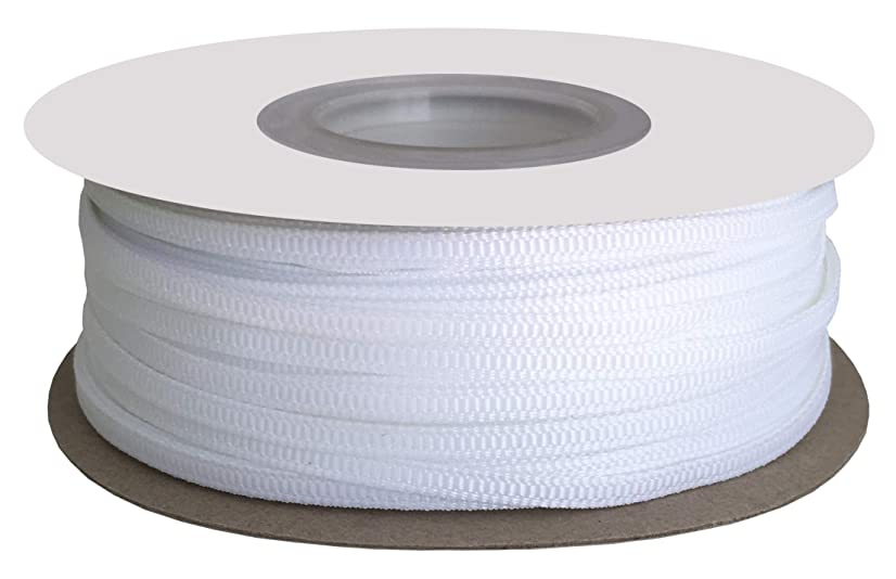 DUOQU 1/8 inch Wide Grosgrain Ribbon 100 Yards Roll Multiple Colors White