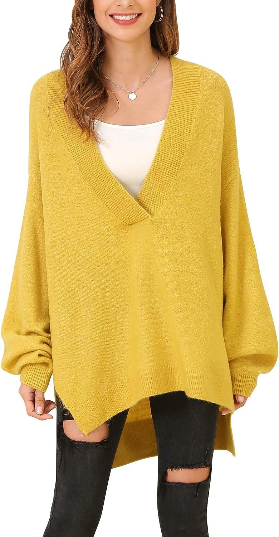 Woolen Bloom Mujeres Jersey Cuello en V Suéter de Punto Sueltos Ligeros Rebeca para Mujeres Niñas Jerseys Holgados Gruesos Primavera Otoño Entretiempo