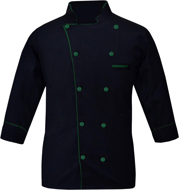 Leorenzo Fabricated PN-05 Men's Black Chef Jacket/Light Weight Chef Coat