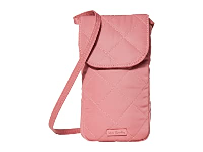 Vera Bradley Carson Performance Twill RFID Deluxe Cellphone Crossbody (Strawberry Ice) Handbags