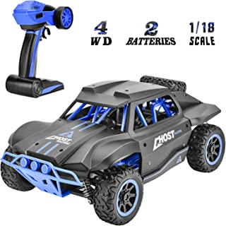 Rainbrace Remote Control Car Off Road RC Cars for 6-15 Years Old Boys Kids Gift, 1:18 All Terrain 4x4 RC Truck Buggy Rock Crawler Remote Control Truck 15.5MPH High Speed Electric RC Racing Cars Toys