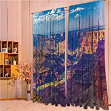 ZHICASSIESOPHIER Print Kids Curtains,Polyester Curtains Panels for Bedroom,Living Room,Grand Canyon Activity of River Stream Over Rock 108Wx108L Inch