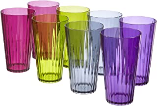 Rio 20-ounce Plastic Drinking Cups   set of 8