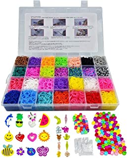 JQNPP Rainbow Rubber Bands Refill Loom Set for Kids - Best Gifts