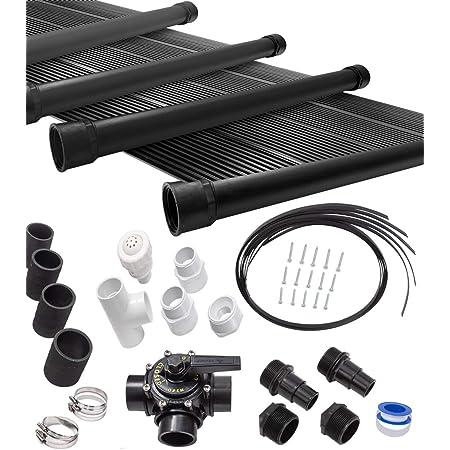 Monzana Conjunto de desviaci/ón 12Pzs de Piscina para Calentador Solar Adaptador Bypass 1 v/álvula 3 v/ías