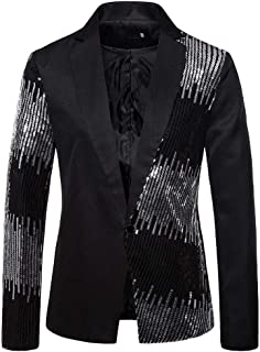 Men's Casual Blazer QUINTRA Sequined Suit Jackets Slim Fit Stylish Blazer Coats Chic Jackets Costume Leisure Suit for Hall...