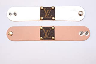 Leather Bracelet, Monogram bracelet