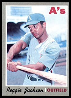 Baseball MLB 1970 Topps #140 Reggie Jackson EX Excellent Athletics