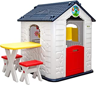 LittleTom Maison de Jeux avec Table pour Enfants - 1 an - Cabane de Jardin - Extérieur et Intérieur