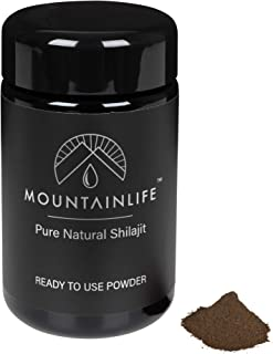 Mountainlife Natural Shilajit Powder | UK Lab Tested | (50g) - 3 Month Supply | Vegan Accredited | Herbal & Mineral Superf...