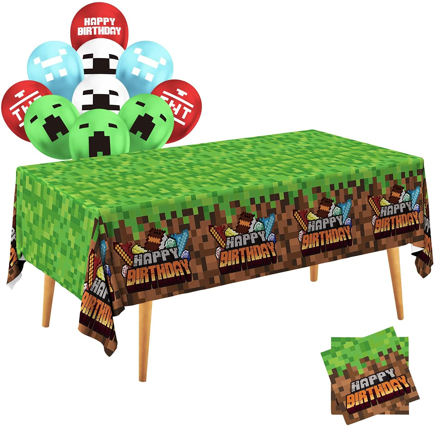 Manufacturer direct delivery 100% quality warranty! Gatherfun Mining Themed Party Supplies Disposable Tablecloth 2 P