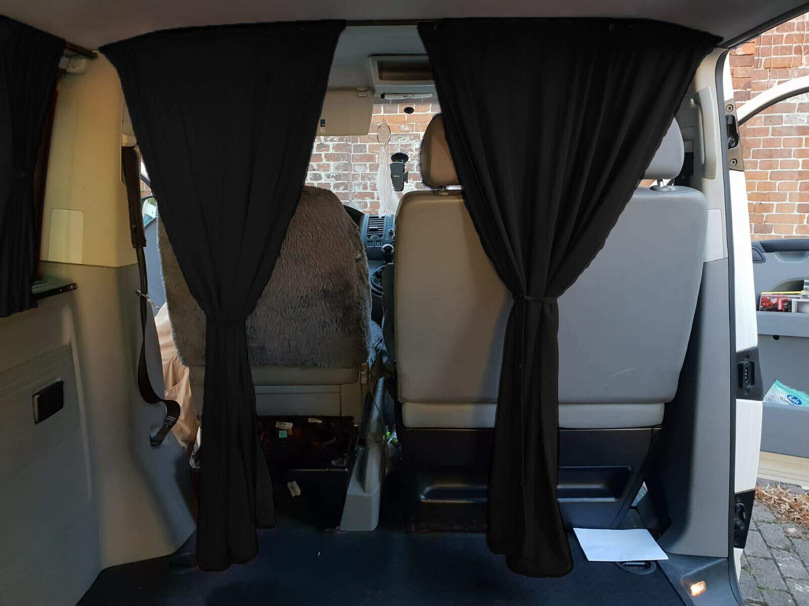 grey Bremer seat covers front windscreen sun protection camping drivers cab curtains curtain compatible with Citroen Berlingo III 2018FB