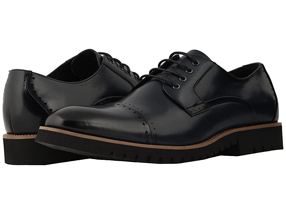 Stacy Adams Barcliff Cap Toe Lace Up Oxford (Indigo) Men