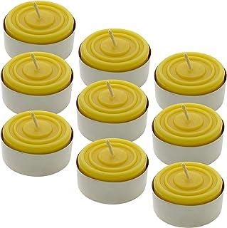Toms Bienen 9 Maxi-Teelichter in Aluschalen aus 100% reinem Bienenwachs