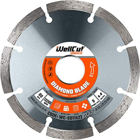 WELLCUT Metal Cutting Disc Extreme 115 X 1.2 X 22.23MM 4.5 Inch Pack of 10 in Metal Box