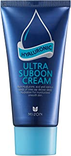 Mizon Hyaluronic Ultra Suboon Cream, Hyaluronic Acid Hydrating Cream for Face, Anti-aging Gel-Cream to Hydrate, Smoothing and Moisturizing Effect, Wrinkle Improvement, Hypoallergenic 45ml 1.52 fl oz