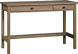 narrow oak desk