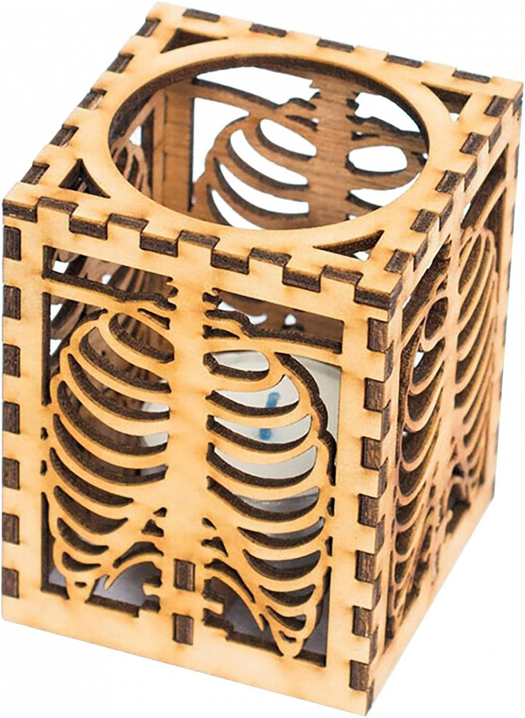 Kairaley Halloween All items free shipping Wooden Max 80% OFF Skeleton Rib Shadow Lamp Hal Desk