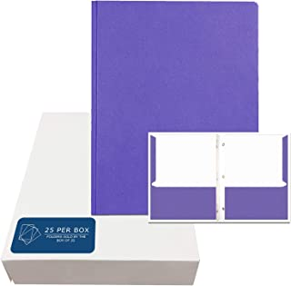 Roaring Spring Embossed 2-Pocket Folders with Prongs.  25/box.  Purple only