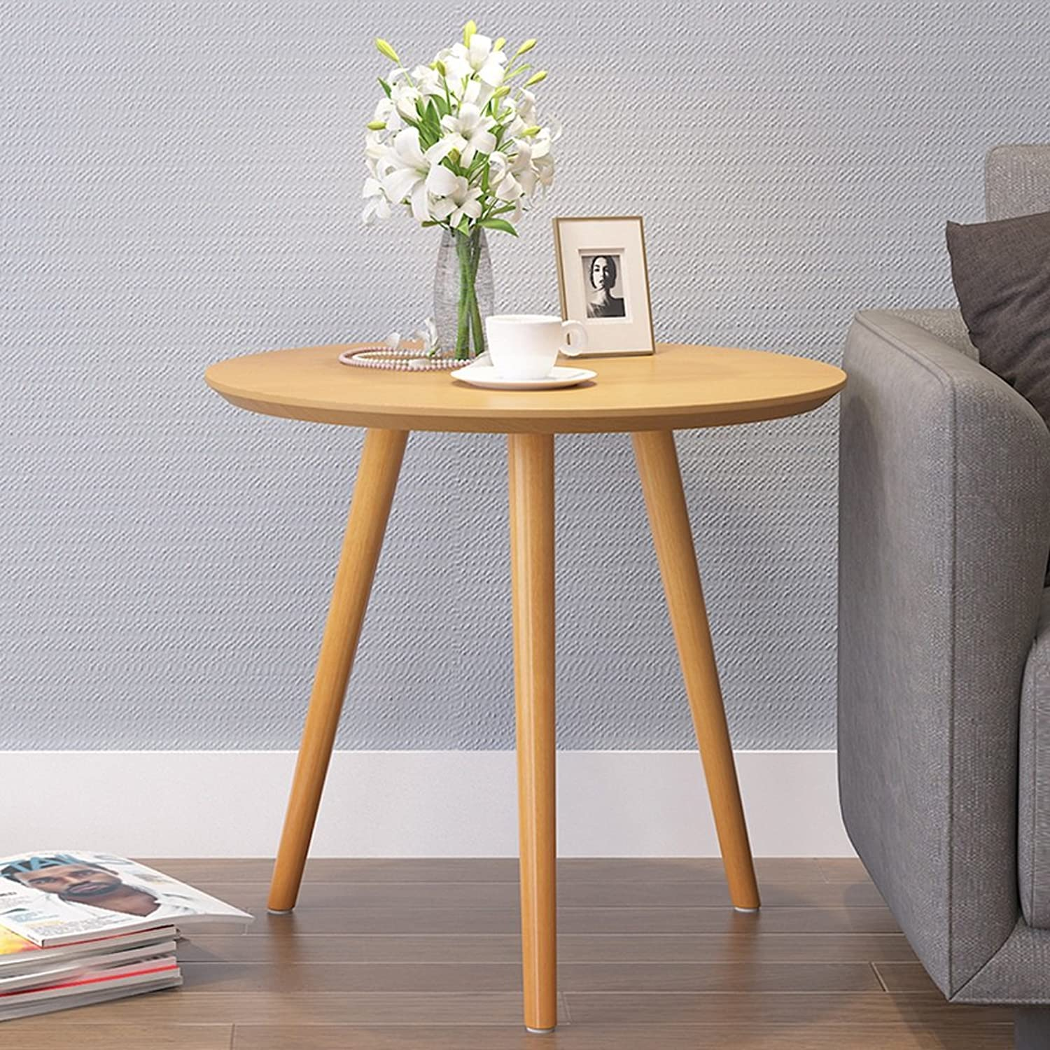 Coffee Table Table Round Low Table Mobile Small Table Dining Table Leisure Corner A Few Coffee Tables ( color   Wood color )