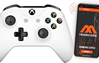 White Smart Rapid Fire Custom Modded Controller for Xbox One S Mods FPS Games and More. Control and Simply Adjust Your mod...