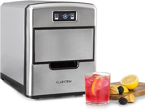Klarstein Metropolitan - machine à glace, machine à glaçons, 12kg/24h, 180W, 3 tailles de glaçons, frigorigène R600a,...