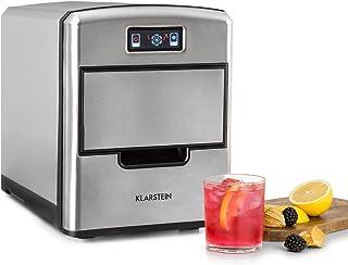 Klarstein Metropolitan - machine à glace, machine à glaçons, 12kg/24h, 180W, 3 tailles de glaçons, frigorigène R600a, rése...