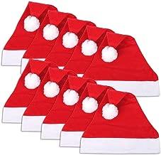 Schramm® 10 Stück Weihnachtsmützen 30x41cm Nikolausmützen Weihnachtsmann Mütze Weihnacht Nikolaus 10er Pack