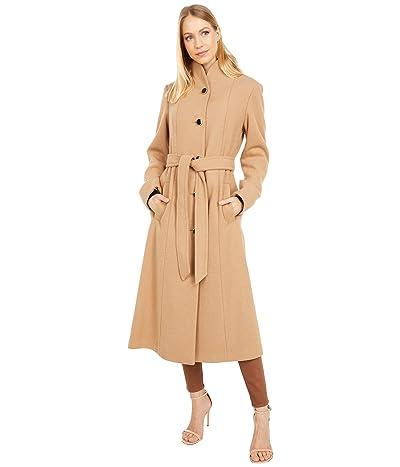 Kate Spade New York Belted Long Wool Coat (Camel) Women