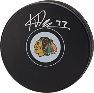 Kirby Dach Chicago Blackhawks Autographed Hockey Puck - Fanatics Authentic Certified - Autographed NHL Pucks