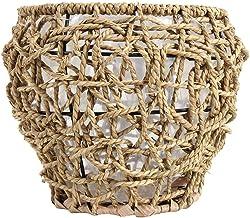 Hemoton Seagrass Cesta Plantador de Arranjo de Flores Vaso de Mesa Vaso Rústico Decoração Chão Moderno Recipientes De Arma...