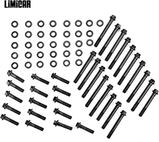 LIMICAR Head Bolts Kit 134-3601 Compatible with Small Block Chevy SBC Chevy 265 283 302 5.0L 305 5.7L 350 400 Cylinder Bolts & Washers