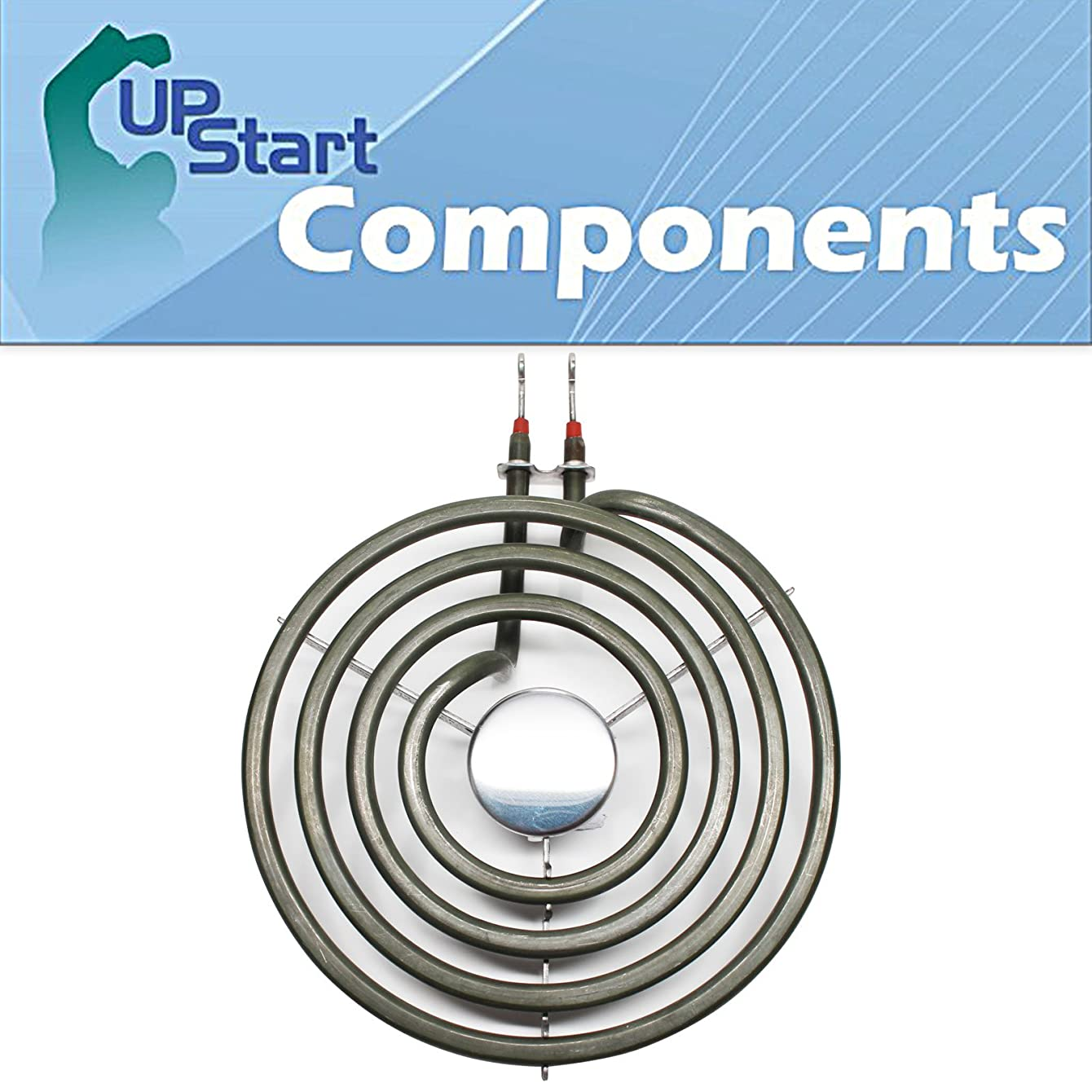 Replacement Whirlpool RF330PXDN0 6 inch 4 Turns Surface Burner Element - Compatible Whirlpool 660532 Heating Element for Range, Stove & Cooktop