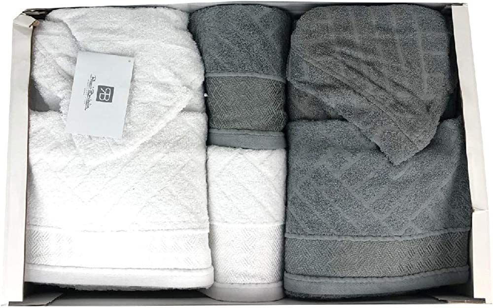 Renato balestra denise ,completo bagno,set asciugamani e accappatoi,per uomo e donna,100% cotone 0703 1