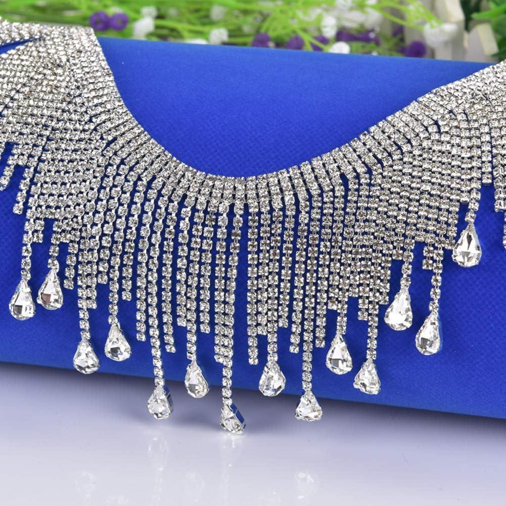Pawkyjar 0.5 Yard Rhinestone Chain Crystal Fringe Overseas parallel import regular Surprise price item Cl Bridal Trim