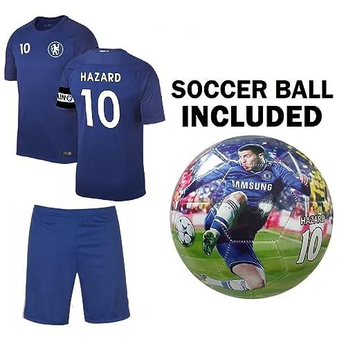 3c3bf413517 C.F.C Hazard Kids Jersey + Shorts + Ball =Premium Gift Set Chelsea Eden  Hazard #